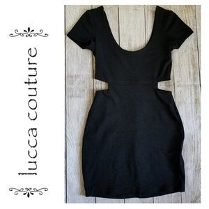 Lucca Couture Side Cut-Out Black Dress - Size S